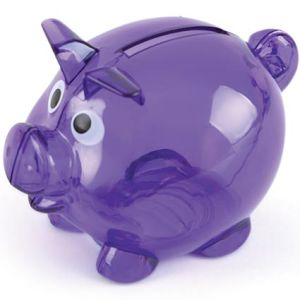 Promotional Mini Translucent Piggy Banks with company logo