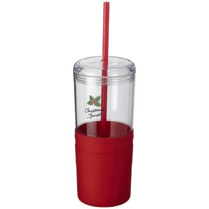 Tumbler with Straw in Red
