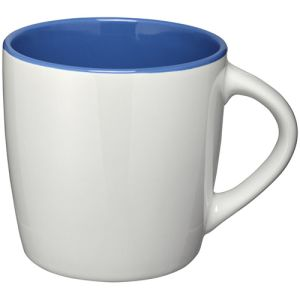 Two Tone Aztec Mugs in White/Blue