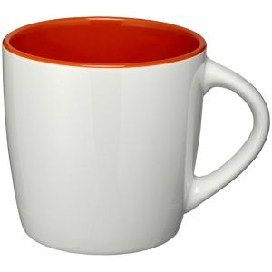 Two Tone Aztec Mugs in White/Orange