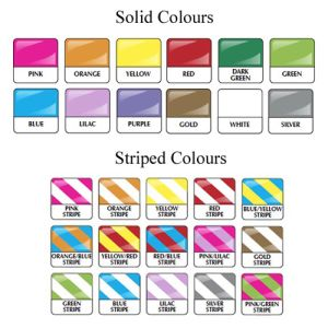 Promotional wristbands for events colours