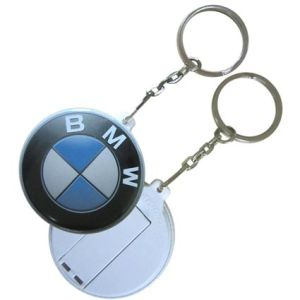 USB button memory sticks on keychains