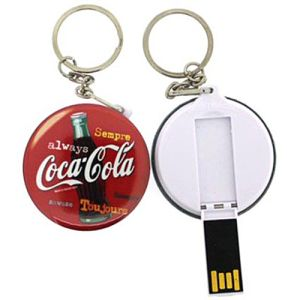 USB Button Flashdrive Keyrings