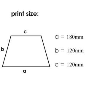 Custom printed umbrellas for advertising print area