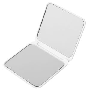 Promotional  White Compact Duo Mirrors for giveaways