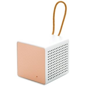 Wireless Cube Speakers in Pink/Grey