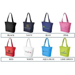 Zippered Beach Tote Bags