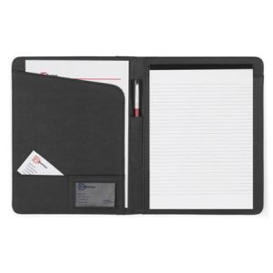 Personalised A4 Diplomat Leather Folders supplied with a lined pad are Ideal for office use
