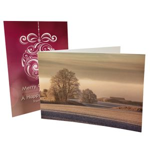 Promotional A5 Greetings Cards printed with design