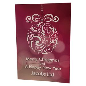 Printed greeting cards for company events