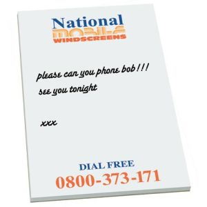 Promotional Notepads branded with company logo