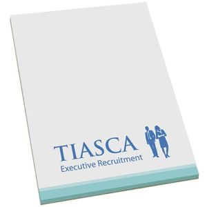 Promotional note pads branded with company logo