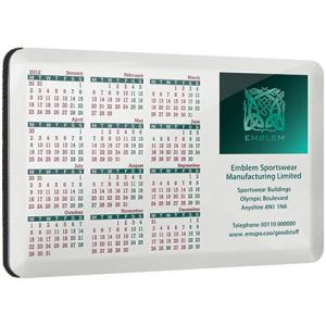 Promotional Aluminium Calendar Coasters for Offices