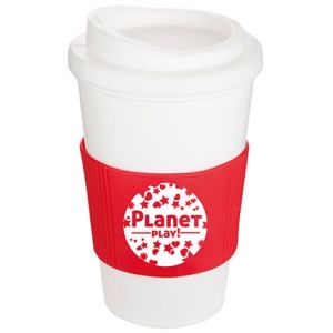 Corporate printed coffee cups with business artwork