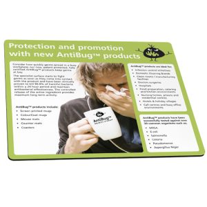 Promotional AntiBug® Mouse Mats to keep the germs away