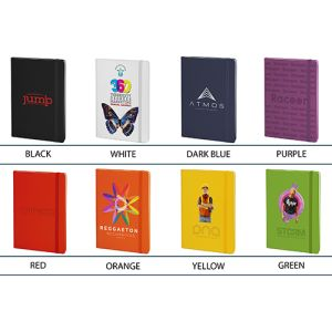 Printed notebooks for workplaces colours