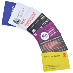 Printed RFID security cards for business gifts