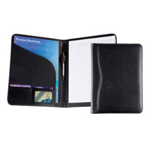 Balmoral Leather A4 Conference Folder in Black