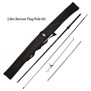 The banner flag pole kit is simple to assemble and will ensure your branding can be seen by all!