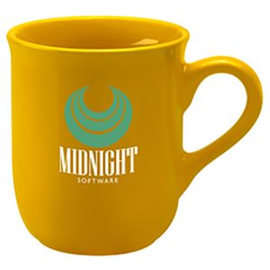 Corporate printed Bell Mugs for council merchandise