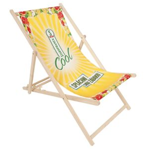 With a frame made from 100% beechwood, each of these branded deck chairs is comfortable yet sturdy