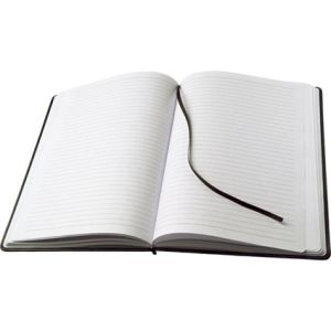 Promotional Large PU Notebooks bound in a tactile cover with approximately 100 white Sheets