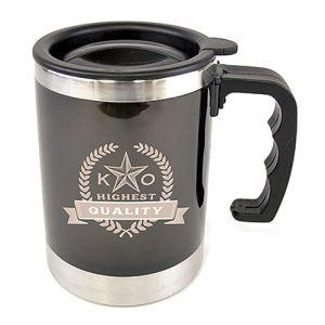Custom printed mugs with corporate branding