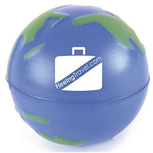 Printed Earth Stress Balls for Office Marketing