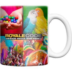 Corporates branded ceramic mugs printed with company logos