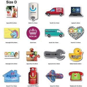 Branded shaped magnet giveaway merchandise