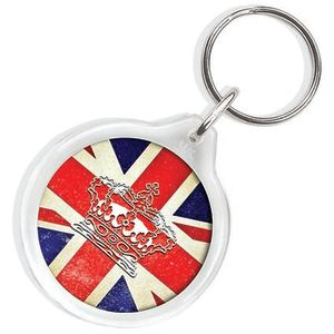 Circle Keyring in Clear