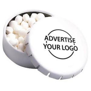 Custom printed Express Click Clack Mint Tins for giveaways