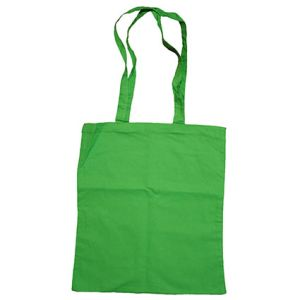 Green Printed Coloured Cotton Tote Bags for Giveaways