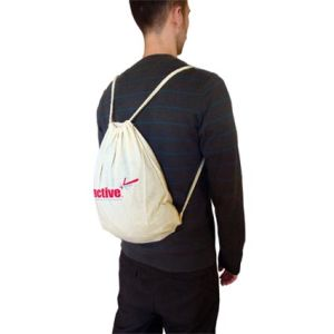 Cotton Drawstring Back Pack