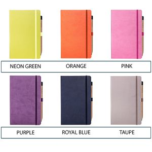 Full Colour Ivory Tucson Medium Notebooks with Pencil