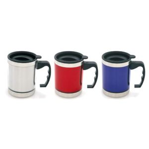 Branded travel mugs for workplaces colours