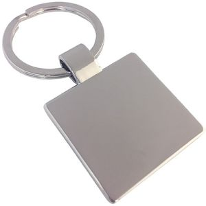 Engraved Square Shaped Keyrings for merchandise gifts