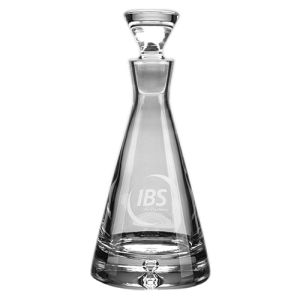 Personalised Handmade Bubble Base Pyramid Decanters for Luxury Gifts