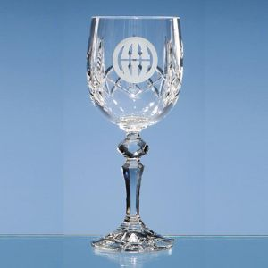 Flamenco Lead Crystal Panel Goblet for Corporate Events
