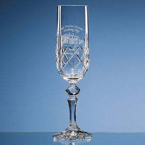 Flamenco Lead Crystal Champagne Flute for Corporate Events