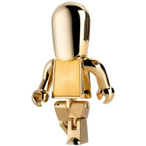 USB Metal People Flashdrives in Gold