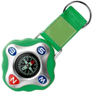 Promotional Plastic Compass Keyring in green
