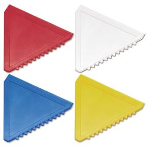 Promotional Triangle Ice Scrapers are available in a range of colours