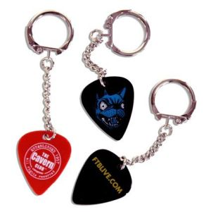 Branded plectrums for merchandise ideas