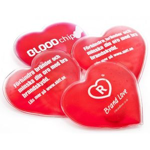Branded Heart Shaped Hand Warmer for Cold Weather Campaigns