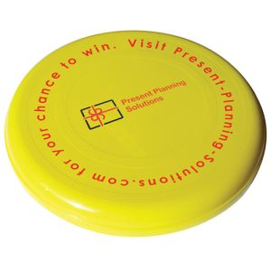 Yellow Printed flyer for business merchandise