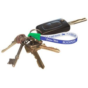 Business Printed Loopy Keyring on Keys