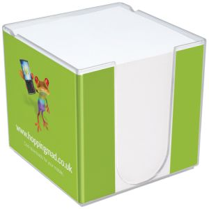 Custom Branded Note block holder with company logo