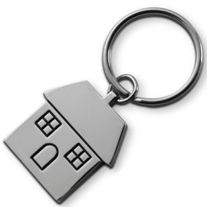 Engraved House Keyring made from metal and supplied in a neat presentation box