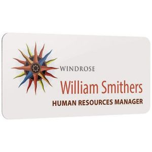 Promotional Metal name badge printed with company design